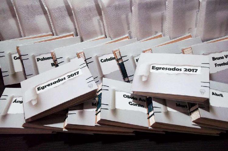 Libretas artesanales para egresados