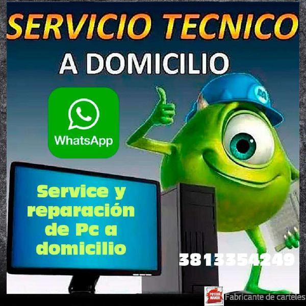 Service Y Reparación de Pc a Domicilio