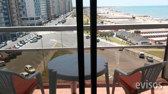 Alquila 1 ambiente en miramar balcón vista al mar ed. playa
