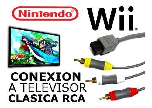 Cable Conexion Clasica Av Nintendo Wii Wii U