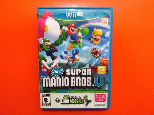 New Super Mario Bros U + Luigi Original Nintendo Wii U Ntsc