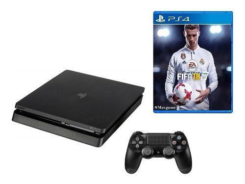 Ps4 Slim 1tb + Fifa 18 Sony Play Station 4. Oferta