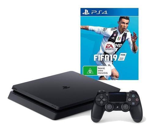 Sony Playstation 4 Ps4 Slim 1tb + Fifa 19 1 Joystick Caja Ce