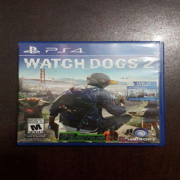 Vendo O Cambio Juego Watch Dogs 2 Ps4
