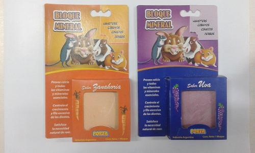 Bloque Mineral Para Hamsters, Conejos, Cobayo, Jerbos