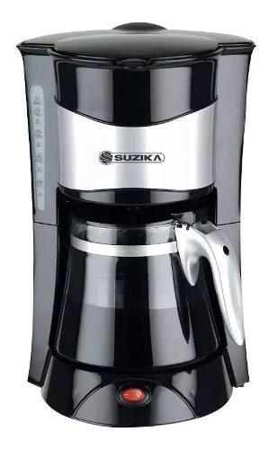 Cafetera Acero Suzika 800w 12 Tazas Antigoteo Indicador Agua