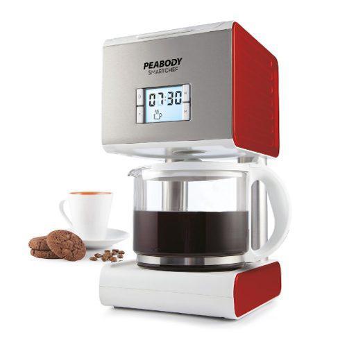 Cafetera Electrica Filtro Peabody Acero Inox Timer Led 1,5 L