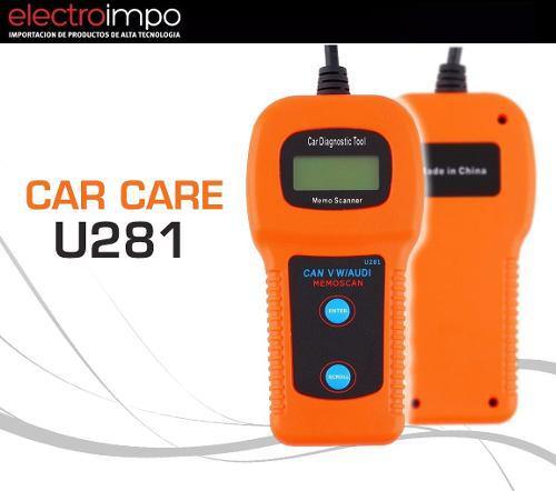 Escaner Automotriz Car Care U281 Can Bus Abs Lector Obd2 Cta
