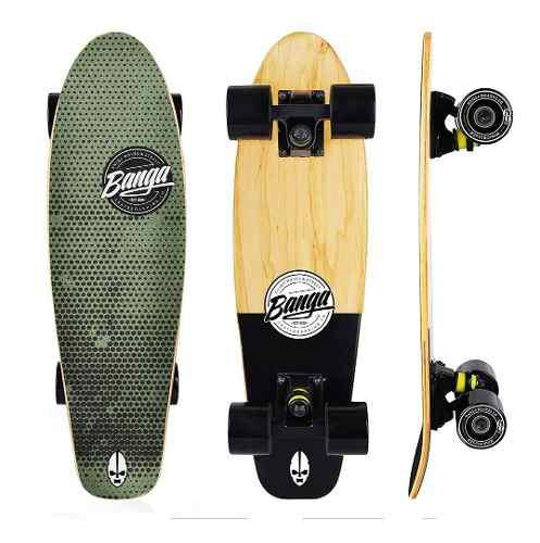 Patineta Banga Mini Cruiser Maple 24 Skate Tabla Surf Street