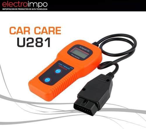 Scanner Automotriz Car Care U 281 Can Bus Abs Lector Odd Ii