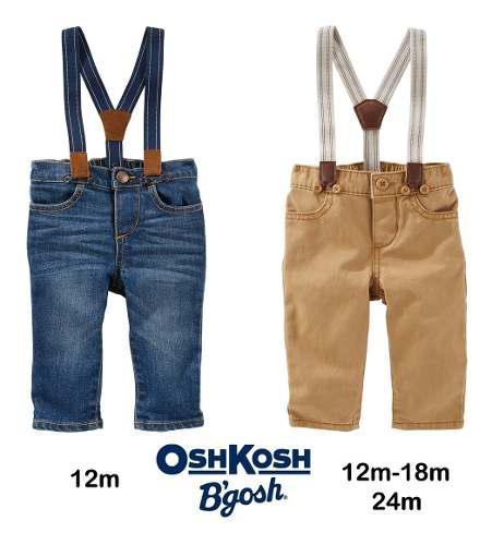 Jeans Pantalón Tiradores Bautismo Osh Kosh Carters Bebe