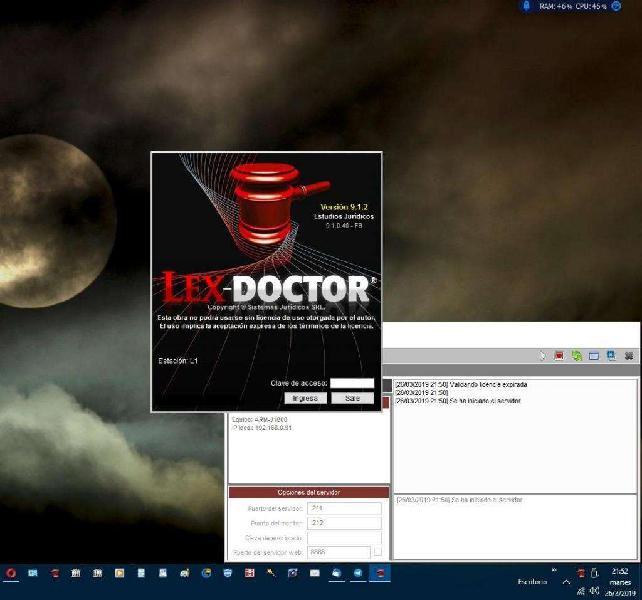 LEX DOCTOR 9.1 ORIGINAL UNICO FUNCIONA EN WINDOWS 10 con