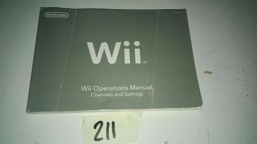 Manual De Operaciones Y Usuario Nintendo Wii Original