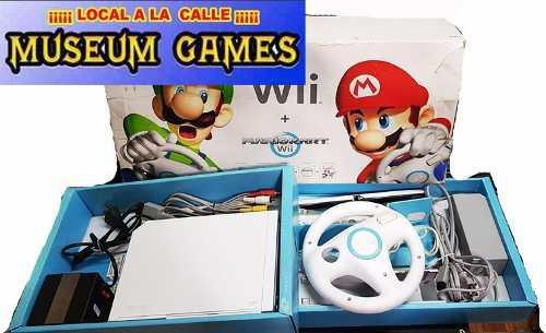 Nintendo Wii Chipeada + Juegos +volante+ Caja +gtia Local Mg