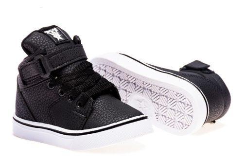 Zapatillas Botitas Para Bebes Negra, Talles Del 17 Al 26