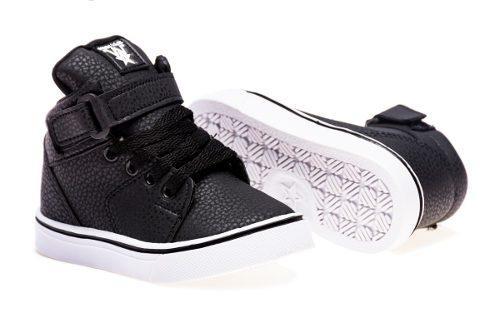 Zapatillas Botitas Para Niños Negra, Talles Del 17 Al 26