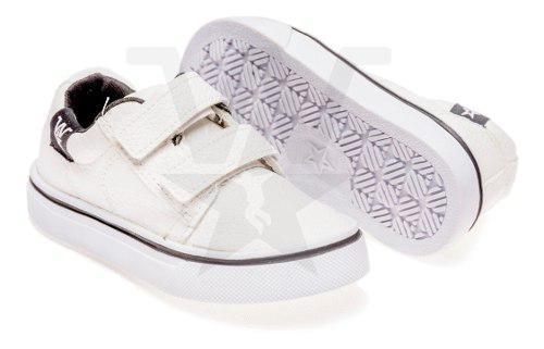 Zapatillas Con Abrojo Para Bebes Blanca, Talles Del 17 Al 26
