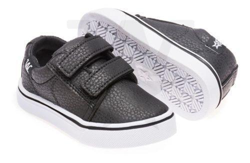 Zapatillas Con Abrojo Para Bebes Negra, Talles Del 17 Al 26