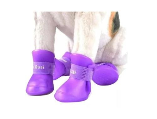 Botitas Perro X4 (xl Yxxl) Botas De Lluvia Silicona Zapato