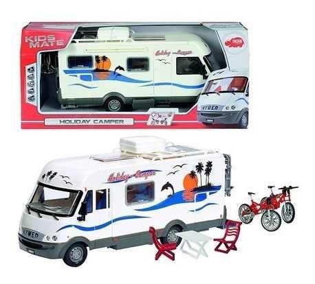 Camioneta Casa Rodante Holiday C/accesorios 1:18 77000