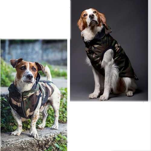 Parka Militar Chaleco Campera Abrigo Perros Grandes