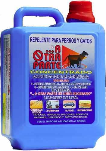 Repelente Perros Gatos A Otra Parte Concentrado 1l Rinde 5l