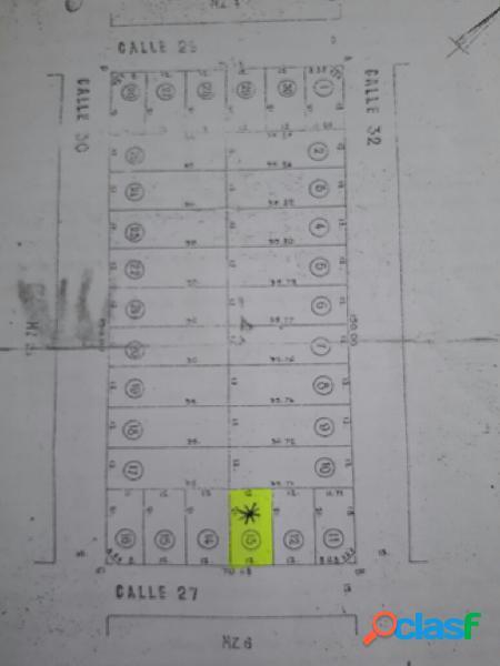 Lote en Venta-12 x 21 mts-Barrio Felix U. Camet