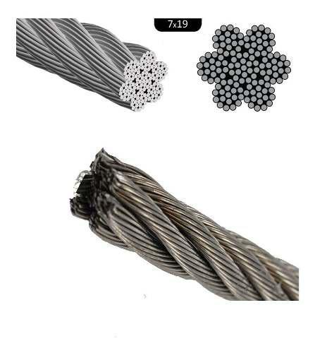Andariveles-- Cable De Acero Inoxidable De 4 Mm Inox 304