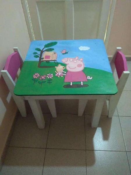 Juego de Mesa y 2 Sillas Infantil Personalizado