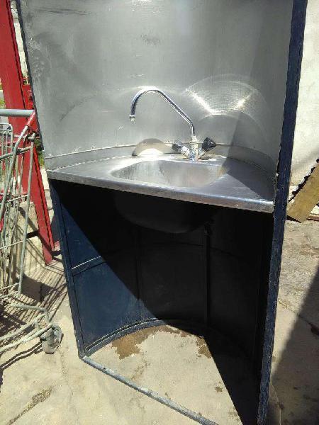 Lavadero modulo en acero inxidable con Pileta y