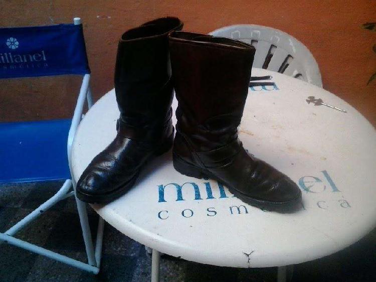 botas de cuero marron usaditas