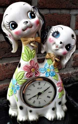 Adorable Grupo Escultórico Par De Perros De Porcelana