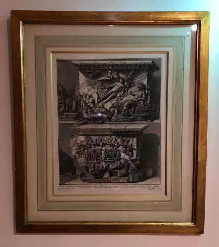 Antiguo Grabado 1762 Original Enmarcado, Autor: F. Piranesi