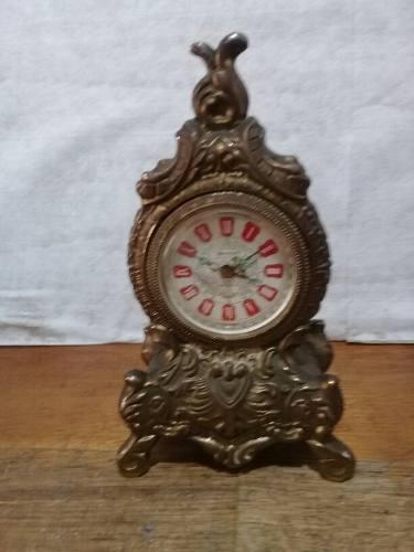Antiguo Reloj De Mesa Funcionando