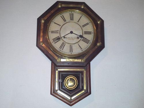 Antiguo Reloj De Pared Waterbury Clock Usa Impecable