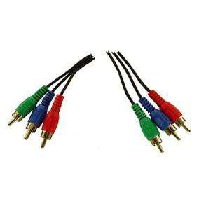 Cable Video Rojo Verde Azul 3 rca a 3 rca