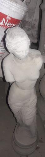 Estatua Venus De Cemento 60 Cm Color Cemento Crudo