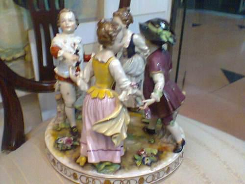 Hermosa Figura En Porcelana Meissen Siglo Xviii (1725-1740)