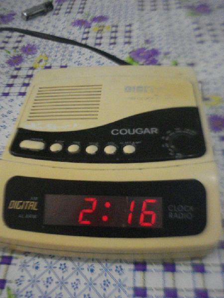 Radio Reloj Despertador Cougar 7892 Vintage Funcionando