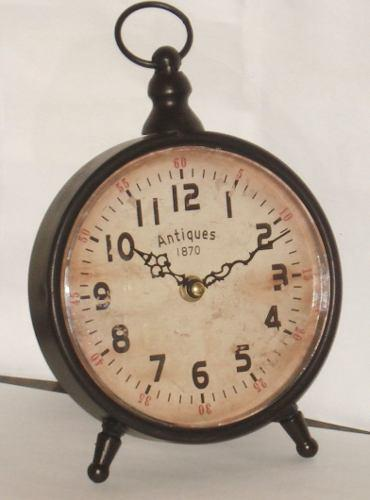 Reloj De Mesa Simil Antiguo En Metal - Simil Antiguo