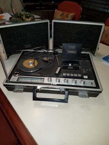 Crown Toca Disco, Vitrola Antiguo Compact Cassette Scp-7000f