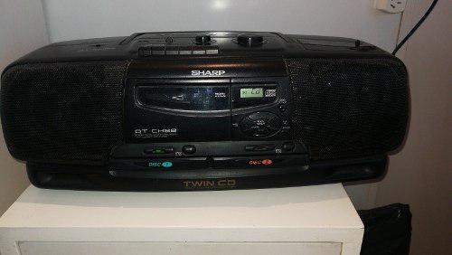 Minicomponente Sharp Radio Am/fm Y Cassete Usado Recoleta