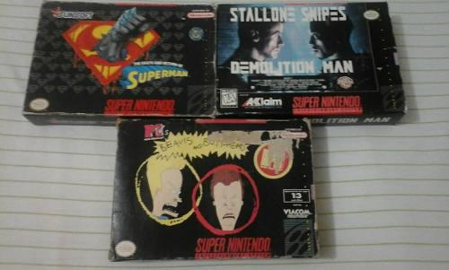 Juegos Originales En Caja - Super Nintendo Superman Beavis