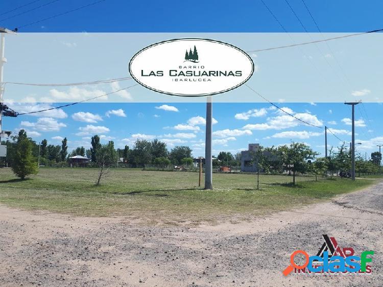 VENTA TERRENO EN BARRIO CERRADO LAS CASUARINAS / IBARLUCEA -