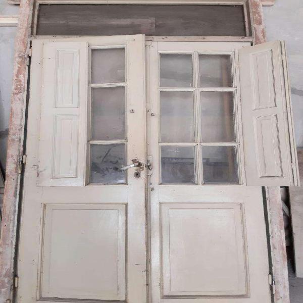 Puerta.maciza Doble 1.20 Con marco Picaporte
