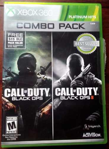 Xbox 360 En La Plata Juego Fisico Call Of Duty Black Ops 1&2