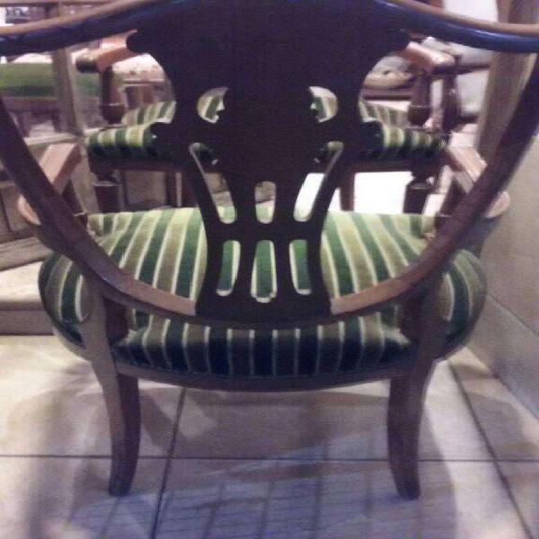 vendo varios sillones de estilo impecables / restaurados