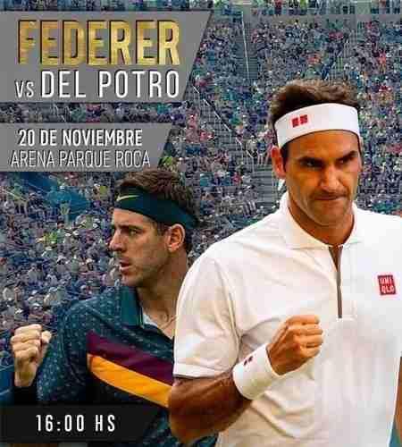 1 Entrada Federer Del Potro 20 /11. Codo Alto J - Fila 13