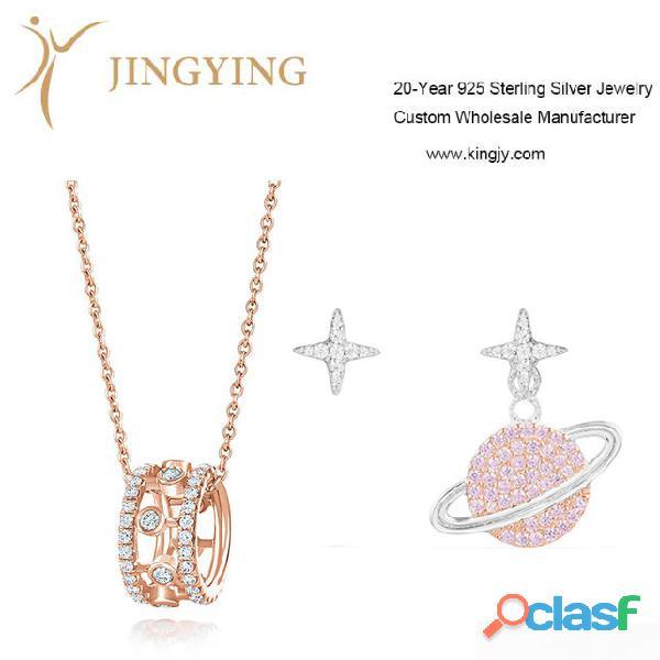 Pendientes Colgantes Dijes 925 Fabricante de joyas de plata