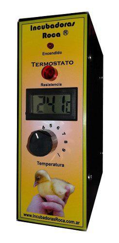 Termostato Para Incubadoras Con Termómetro Y Resistencia